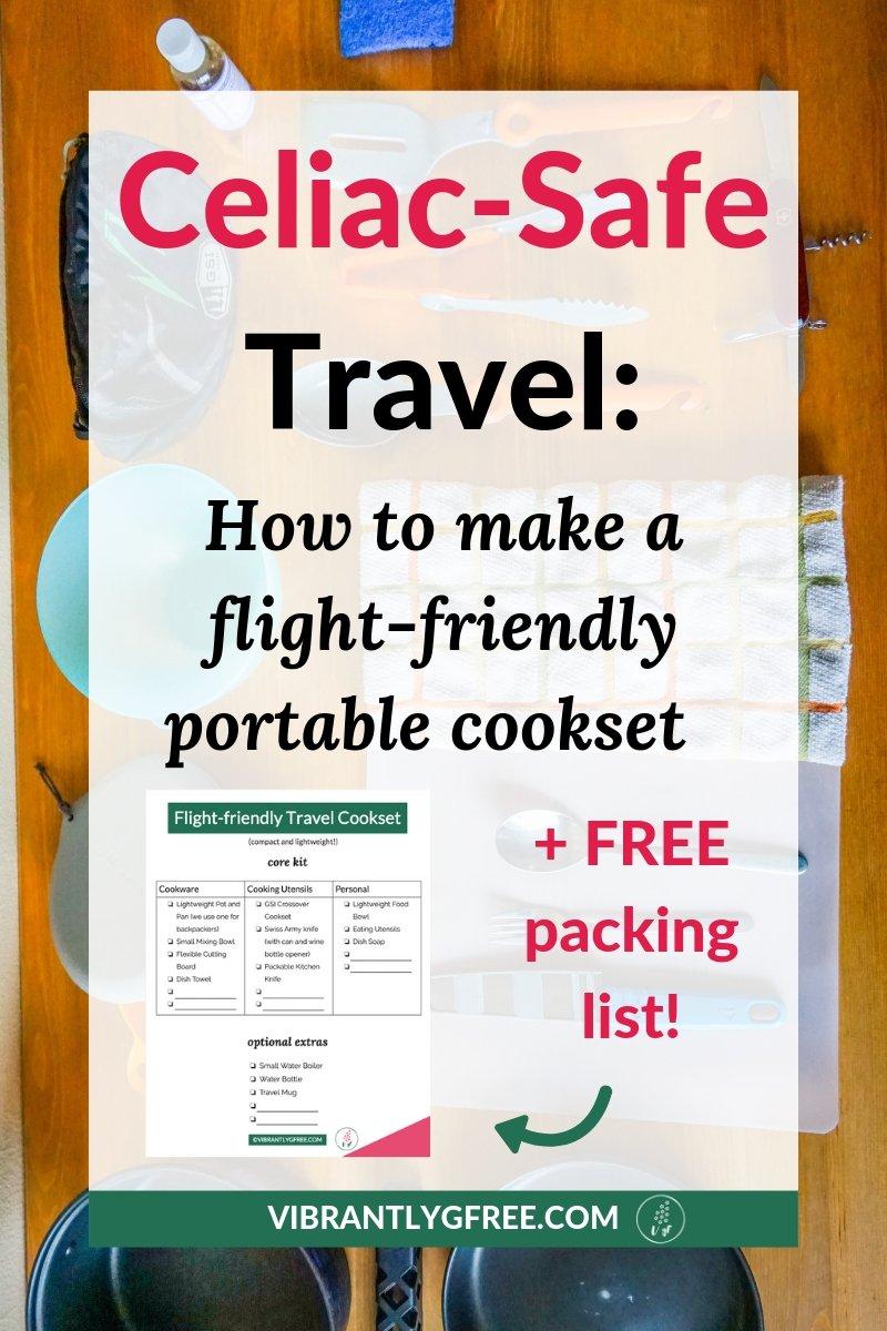 Flight-friendly Celiac Travel Cooking Kit