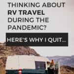 RV Travel during Coronavirus Pandemic PIN