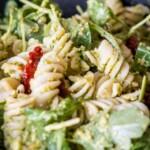 Pea Pesto Pasta close up