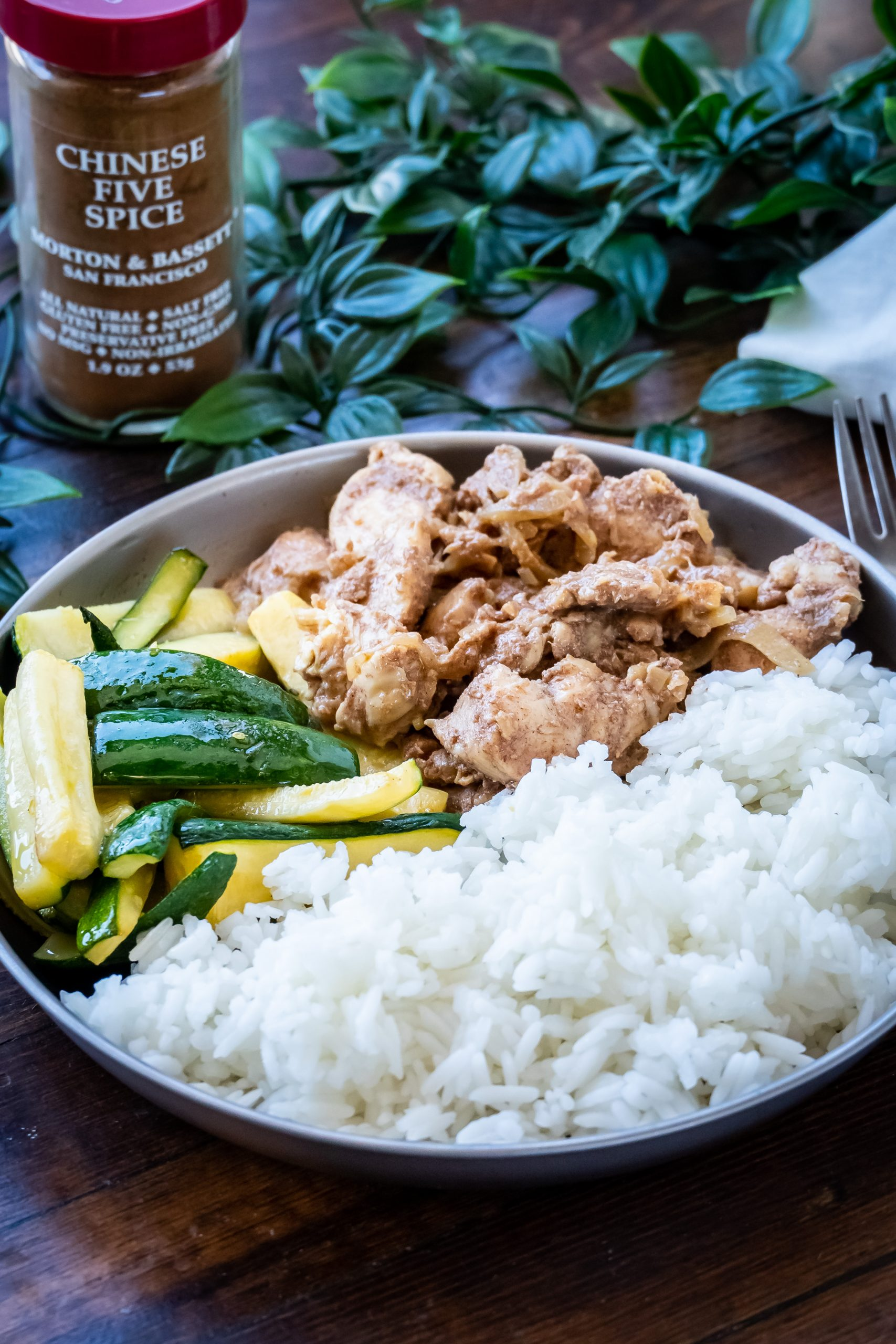 Chinese Five Spice Chicken with spice blend
