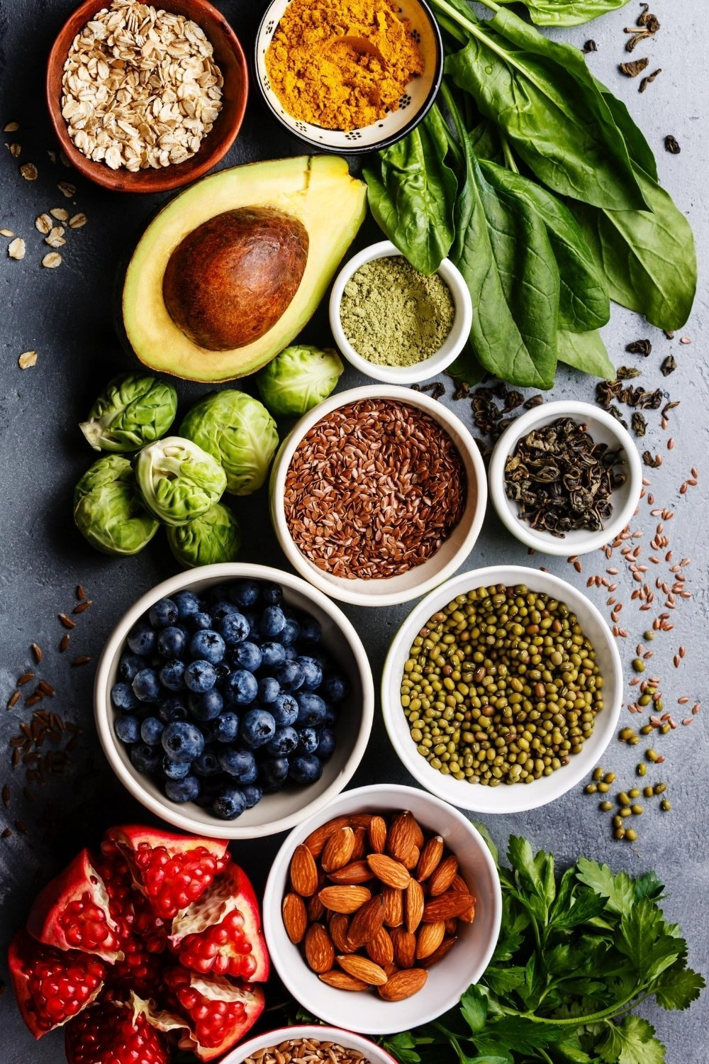 A variety of healthy naturally gluten free foods