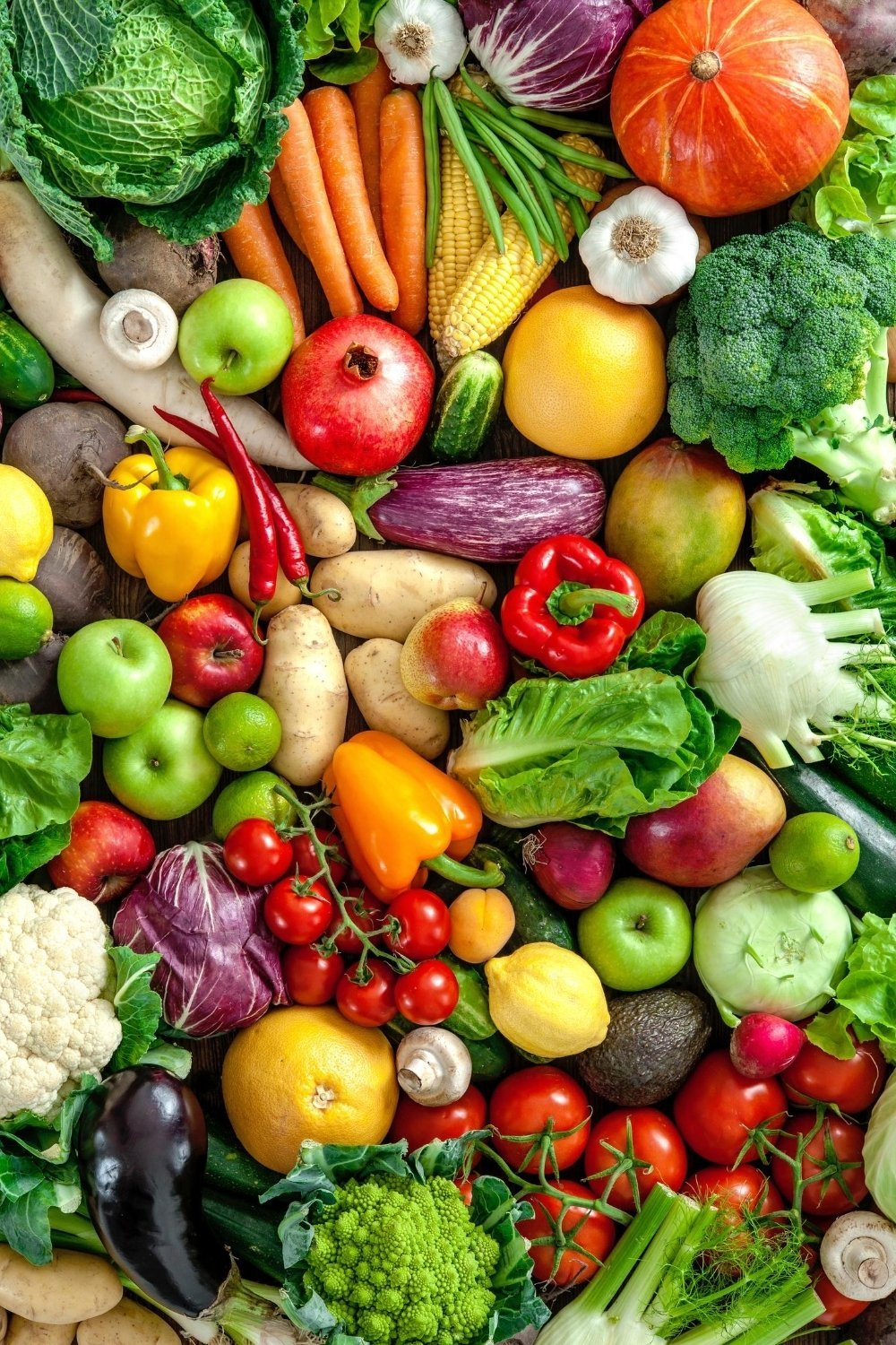 Naturally gluten free fruits and vegetables