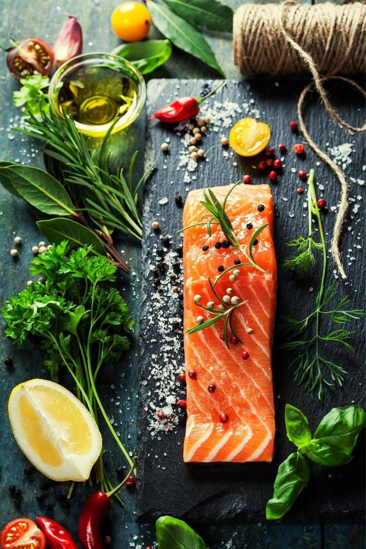 Naturally gluten free fish dinner preparation