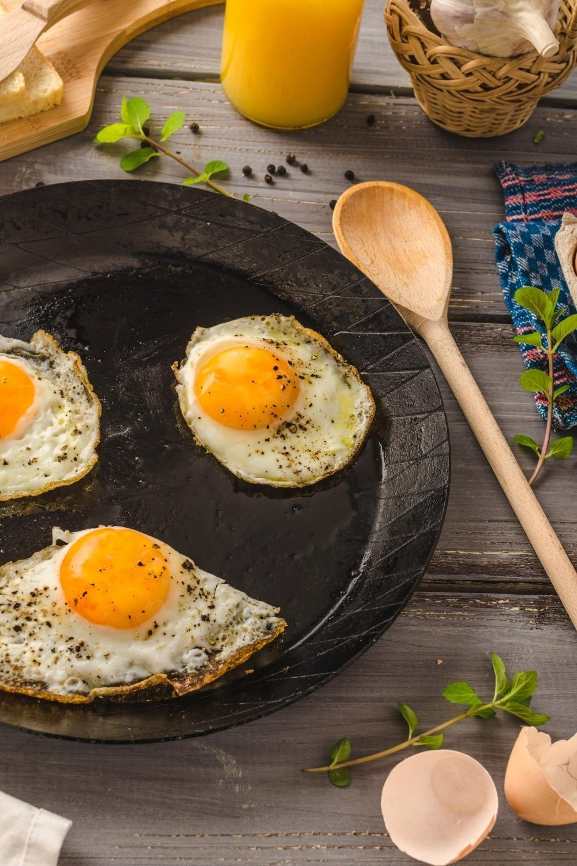 Naturally gluten free fried egg breakfast