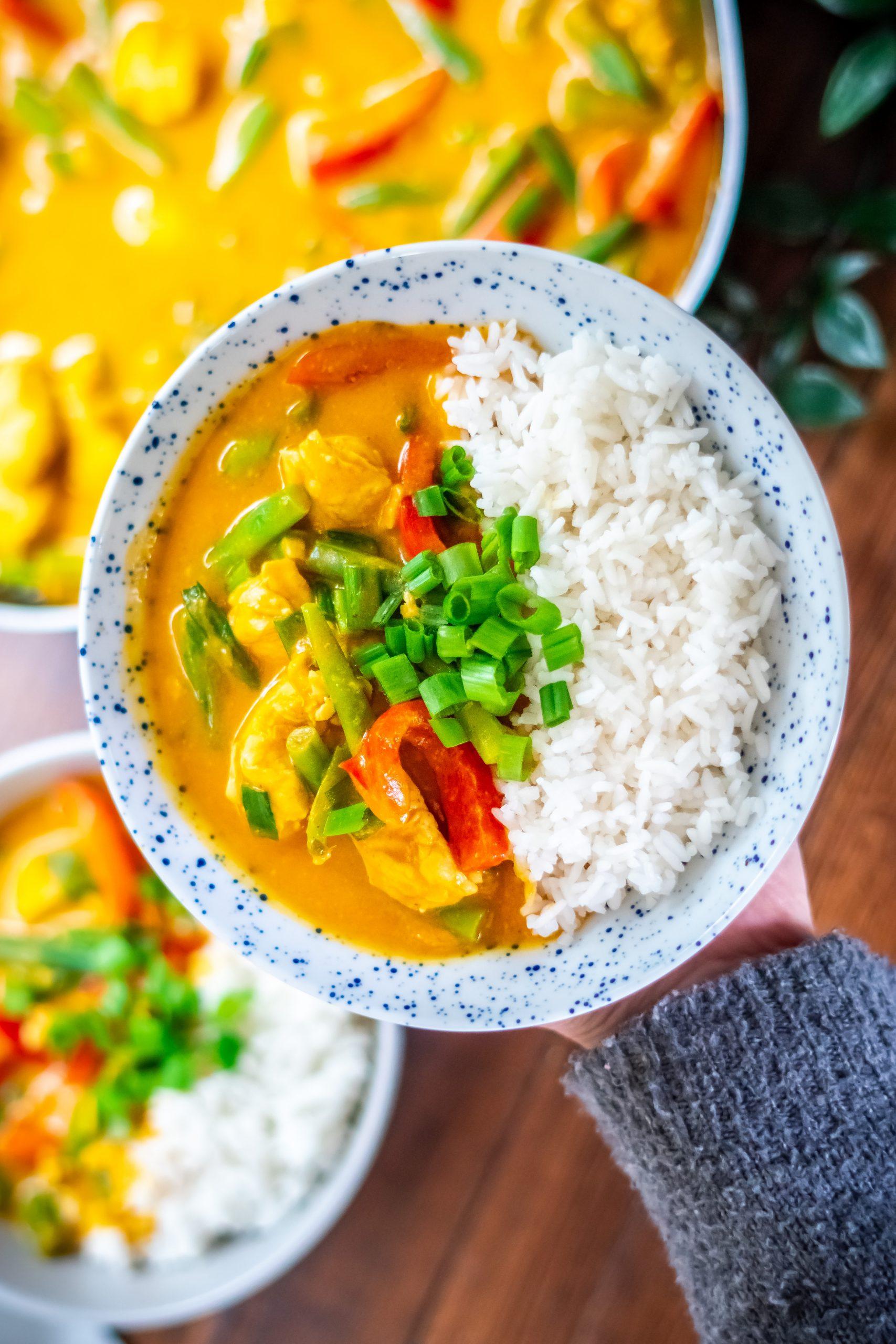 Pumpkin Curry made using my van life kitchen essentials.