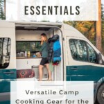 Van Life Kitchen Essentials and camp cooking gear PIN 2
