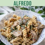 Herby Vegan Alfredo Pasta PIN 4