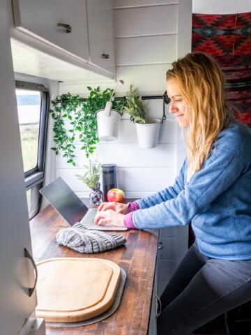 Van life working remotely in Washington
