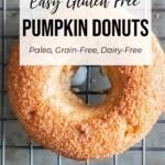 gluten free pumpkin donuts pin